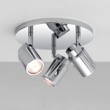 Потолочная люстра с регулировкой направления света Astro Como 1282002 (6107), IP44, 3xGU10x35W, хром, металл, стекло