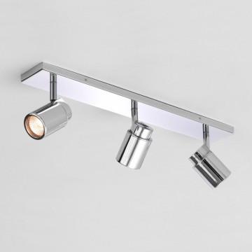 Потолочный светильник с регулировкой направления света Astro Como 1282003 (6109), IP44, 3xGU10x35W, хром, металл, стекло