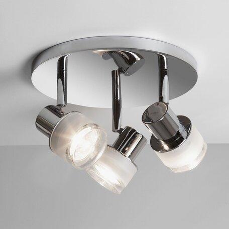 Потолочный светильник с регулировкой направления света Astro Tokai 1285002 (6136), IP44, 3xGU10x35W, хром, прозрачный, металл, стекло