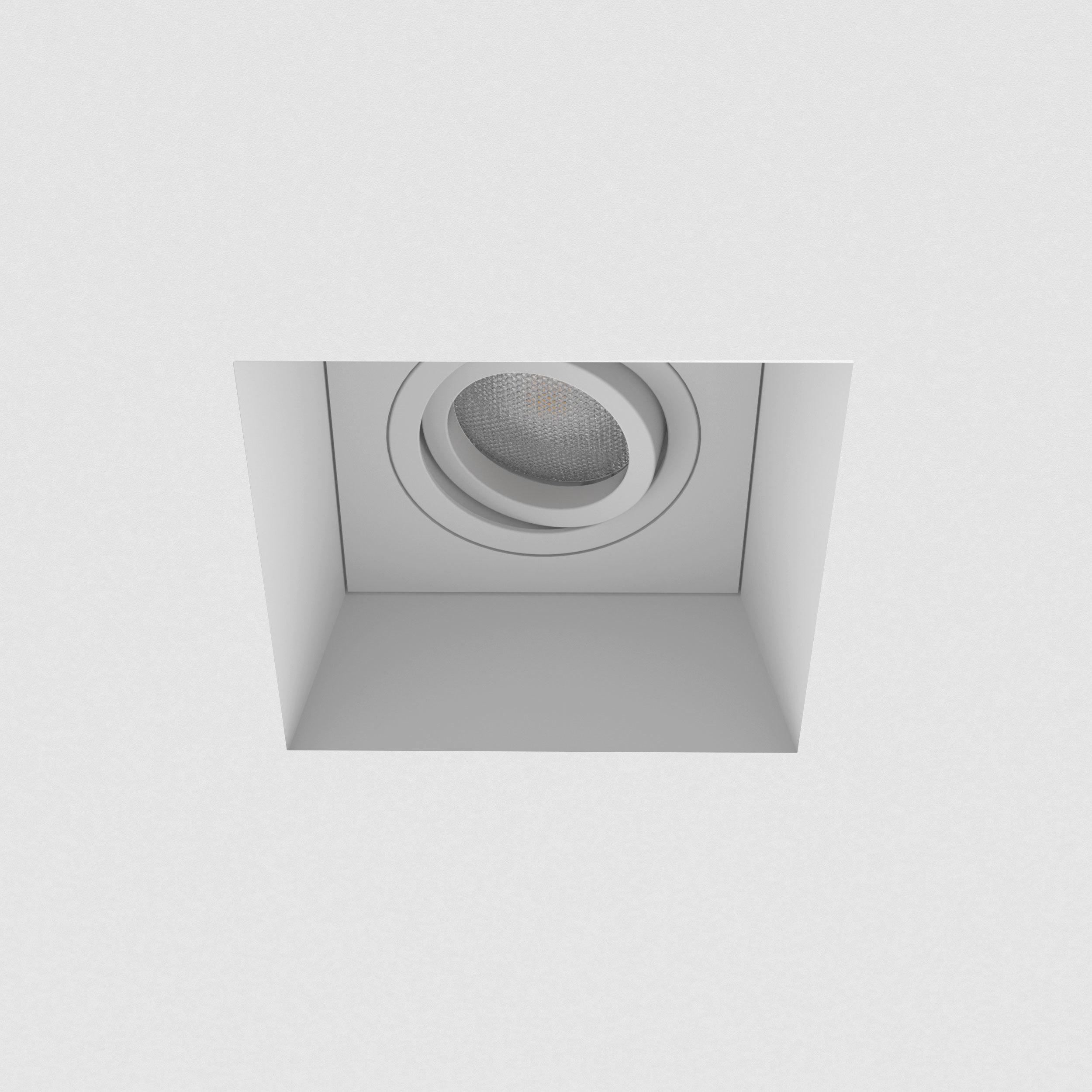 Встраиваемый светильник Astro Blanco 1253007 (7345), 1xGU10x50W, белый, под покраску, гипс, металл - фото 3