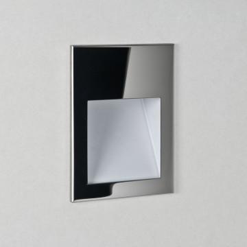 Встраиваемый настенный светодиодный светильник Astro Borgo 1212009 (7088), IP65, LED 2W 3000K 71.6lm CRI80, хром, металл, стекло
