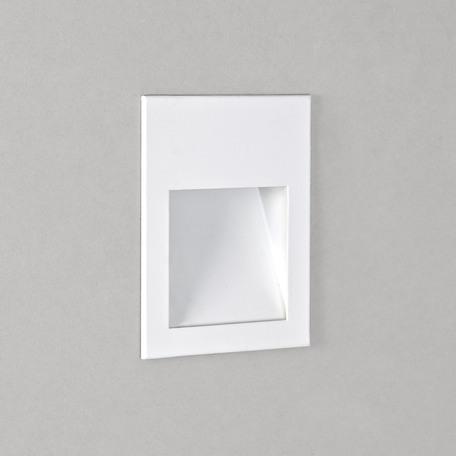 Встраиваемый настенный светодиодный светильник Astro Borgo 1212019 (7484), IP65, LED 1W 3000K 29.62lm CRI80, белый, металл