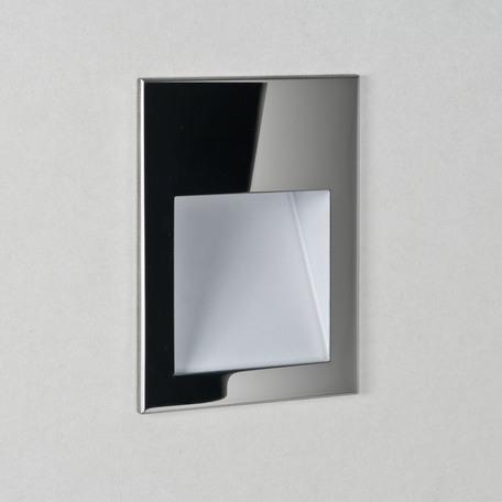 Встраиваемый настенный светодиодный светильник Astro Borgo 1212020 (7485), IP65, LED 1W 3000K 29.62lm CRI80, хром, металл