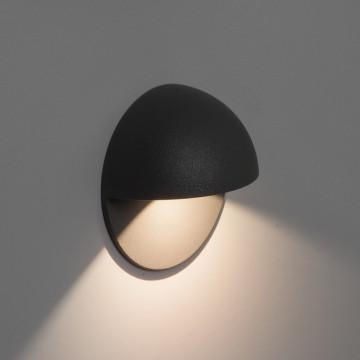 Встраиваемый настенный светодиодный светильник Astro Tivola 1338001 (7264), IP65, LED 2W 3000K 82lm CRI80, черный, металл