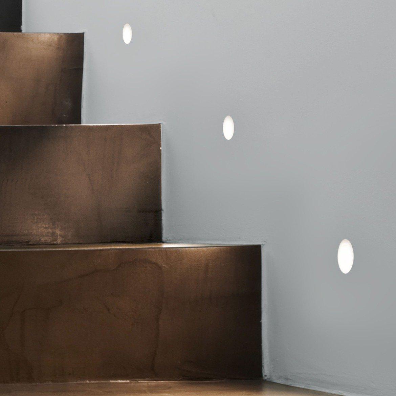 Встраиваемый настенный светодиодный светильник Astro Leros Trimless LED 1342002 (7418), LED 1W 2700K 35.6lm CRI80, белый, металл - фото 1