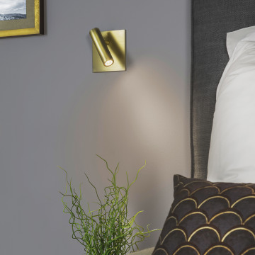 Встраиваемый настенный светодиодный светильник с регулировкой направления света Astro Enna 1058018 (7362), LED 4,47W 2700K 111.44lm CRI80, никель, металл - миниатюра 4