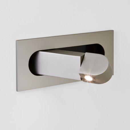 Встраиваемый настенный светодиодный светильник с регулировкой направления света Astro Digit LED 1323002 (7165) 2700K (теплый), никель, металл - миниатюра 1