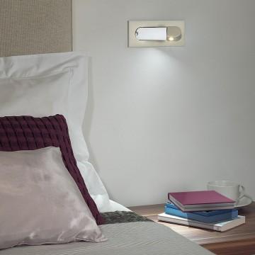 Встраиваемый настенный светодиодный светильник с регулировкой направления света Astro Digit LED 1323002 (7165) 2700K (теплый), никель, металл - миниатюра 4
