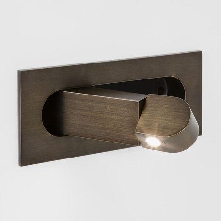 Встраиваемый настенный светодиодный светильник с регулировкой направления света Astro Digit LED 1323003 (7166) 2700K (теплый), бронза, металл