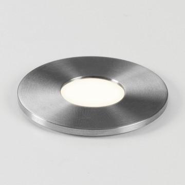Встраиваемый в уличное покрытие светодиодный светильник Astro Terra 1201003 (7199), IP65, LED 1W 3000K 40lm CRI80, сталь, металл, стекло