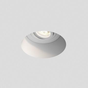 Встраиваемый светильник Astro Blanco 1253005 (7343), 1xGU10x50W, белый, под покраску, гипс, металл