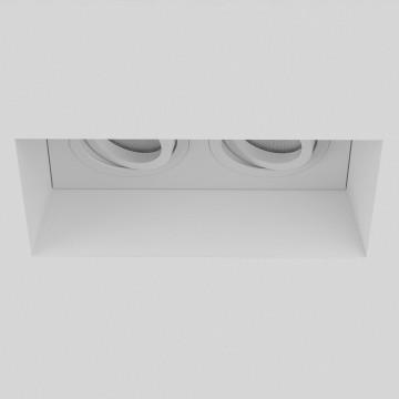 Встраиваемый светильник Astro Blanco 1253006 (7344), 2xGU10x50W, белый, под покраску, гипс, металл - миниатюра 3