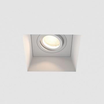 Встраиваемый светильник Astro Blanco 1253007 (7345), 1xGU10x50W, белый, под покраску, гипс, металл