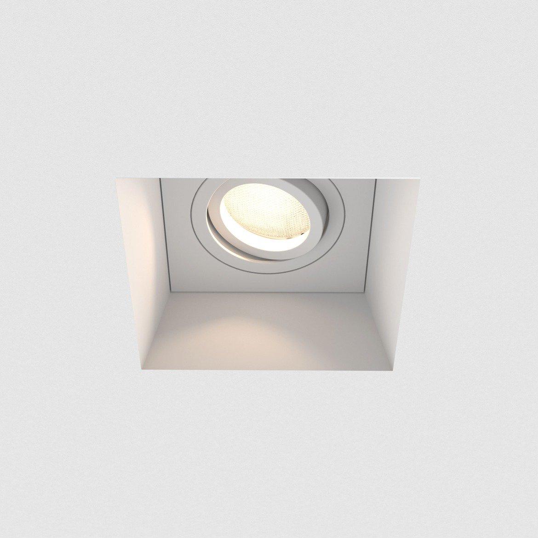 Встраиваемый светильник Astro Blanco 1253007 (7345), 1xGU10x50W, белый, под покраску, гипс, металл - фото 1