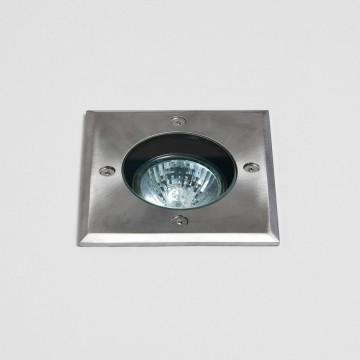 Встраиваемый в уличное покрытие светильник Astro Gramos 1312003 (7393), IP65, 1xGU10x6W, прозрачный, сталь, металл, стекло