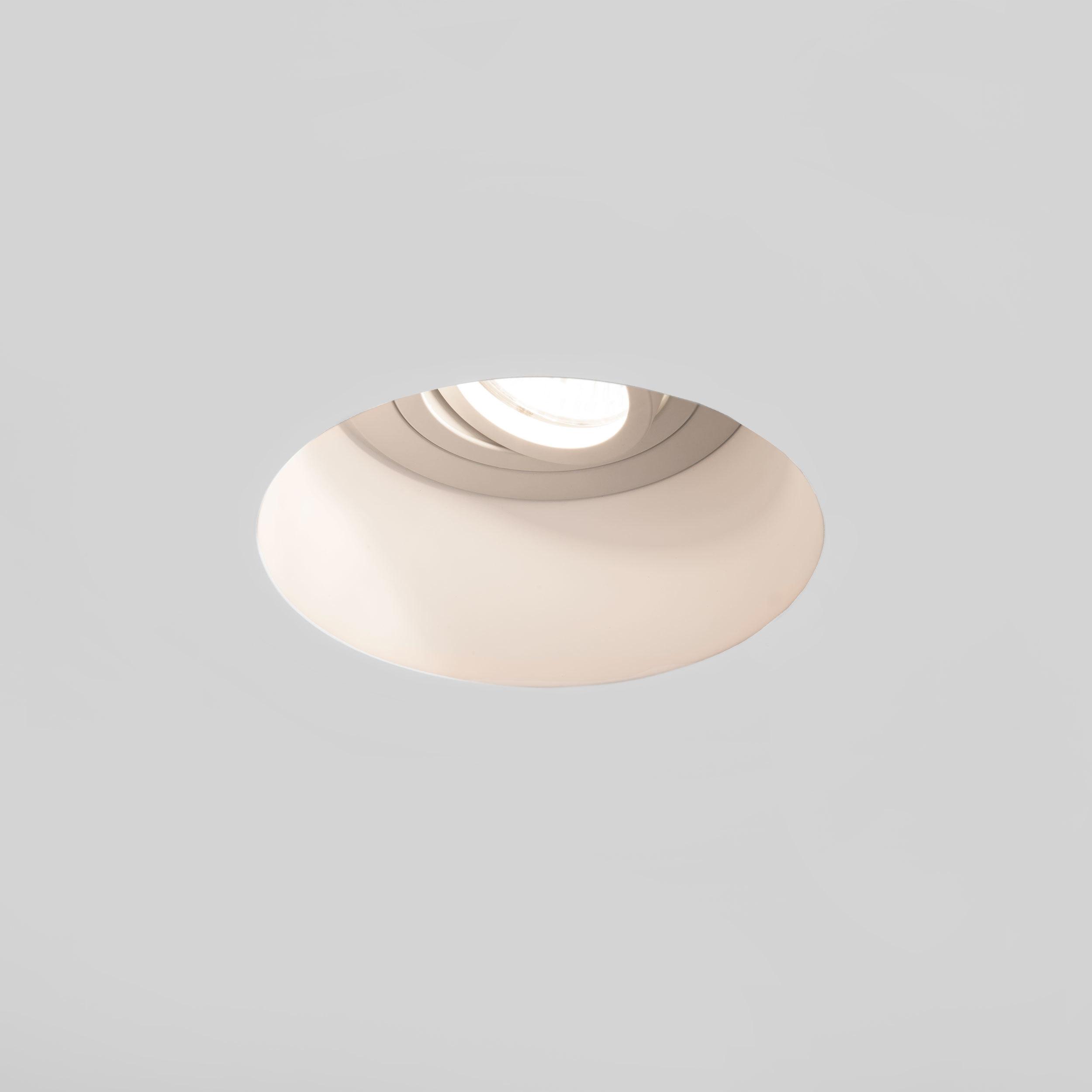 Встраиваемый светильник Astro Blanco 1253005 (7343), 1xGU10x50W, белый, под покраску, гипс, металл - фото 1