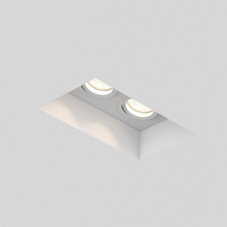 Встраиваемый светильник Astro Blanco 1253006 (7344), 2xGU10x50W, белый, под покраску, гипс, металл - миниатюра 1