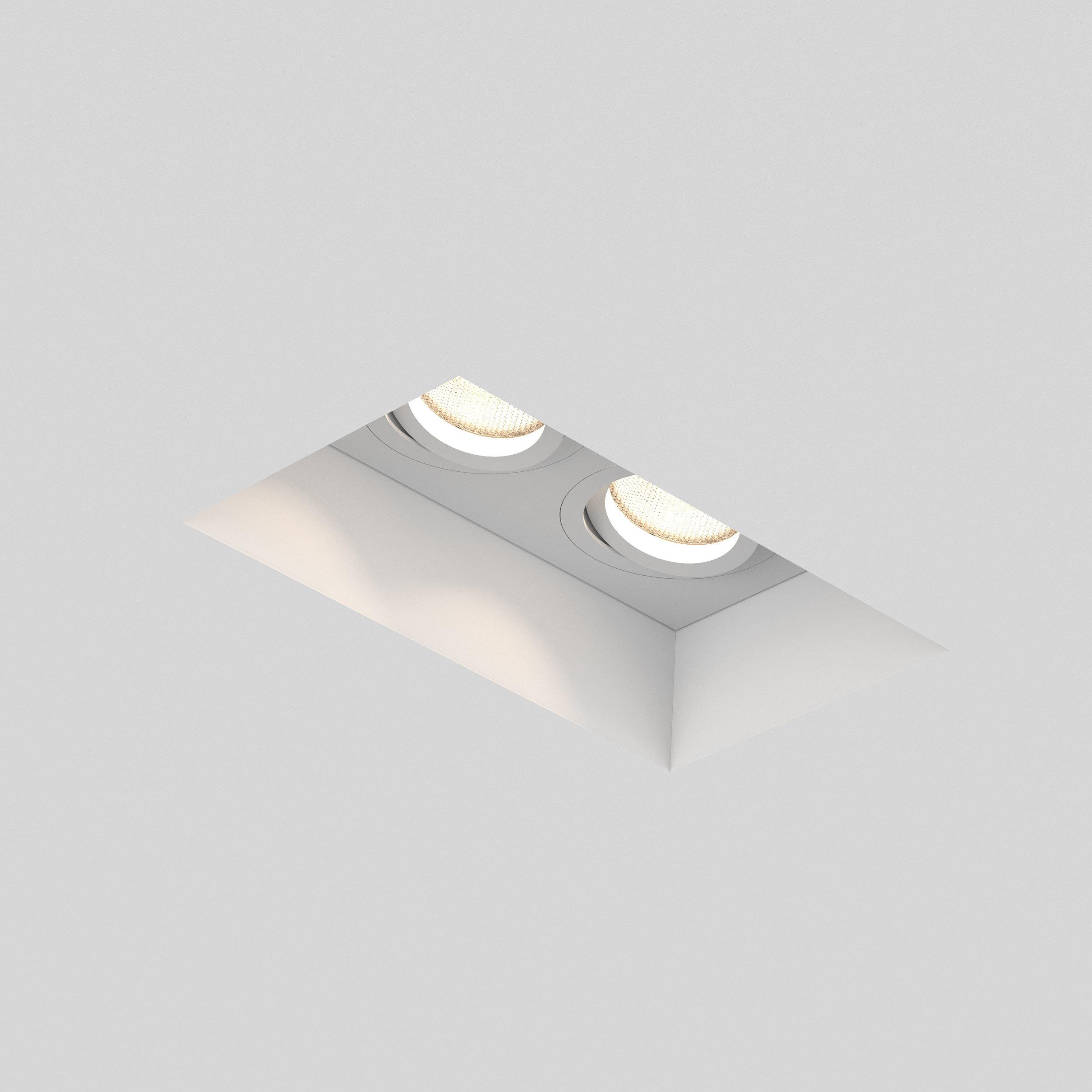 Встраиваемый светильник Astro Blanco 1253006 (7344), 2xGU10x50W, белый, под покраску, гипс, металл - фото 1