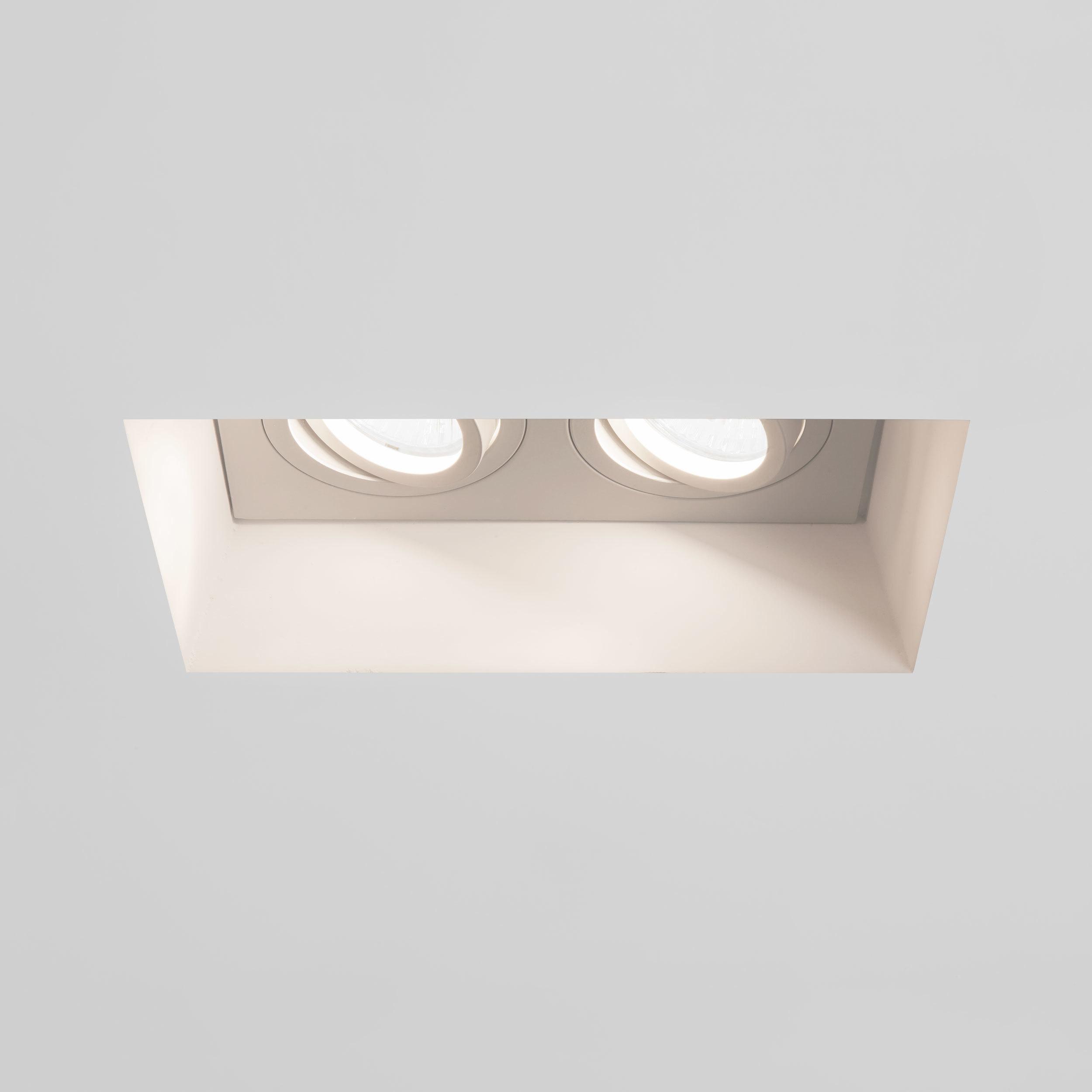 Встраиваемый светильник Astro Blanco 1253006 (7344), 2xGU10x50W, белый, под покраску, гипс, металл - фото 2
