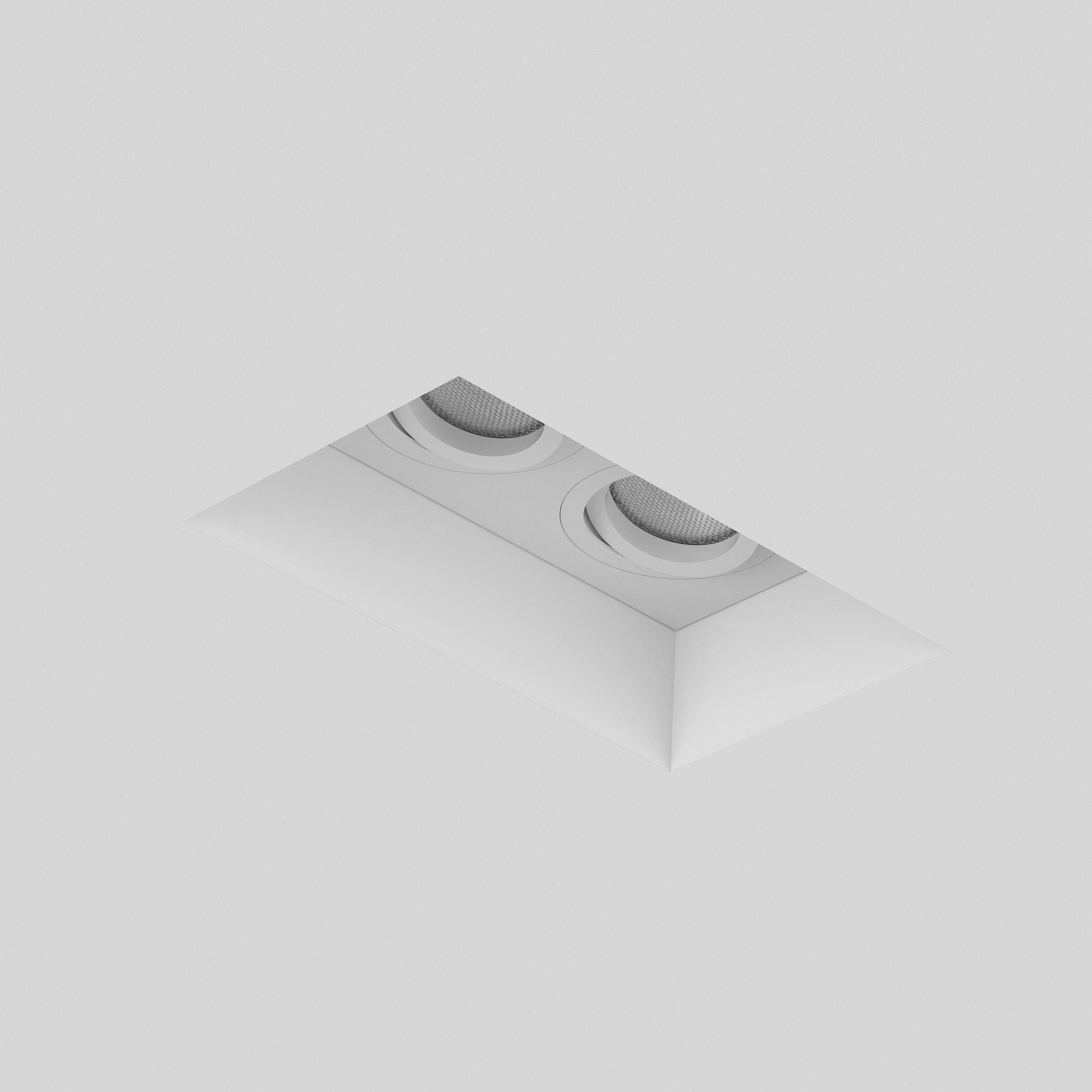 Встраиваемый светильник Astro Blanco 1253006 (7344), 2xGU10x50W, белый, под покраску, гипс, металл - фото 3