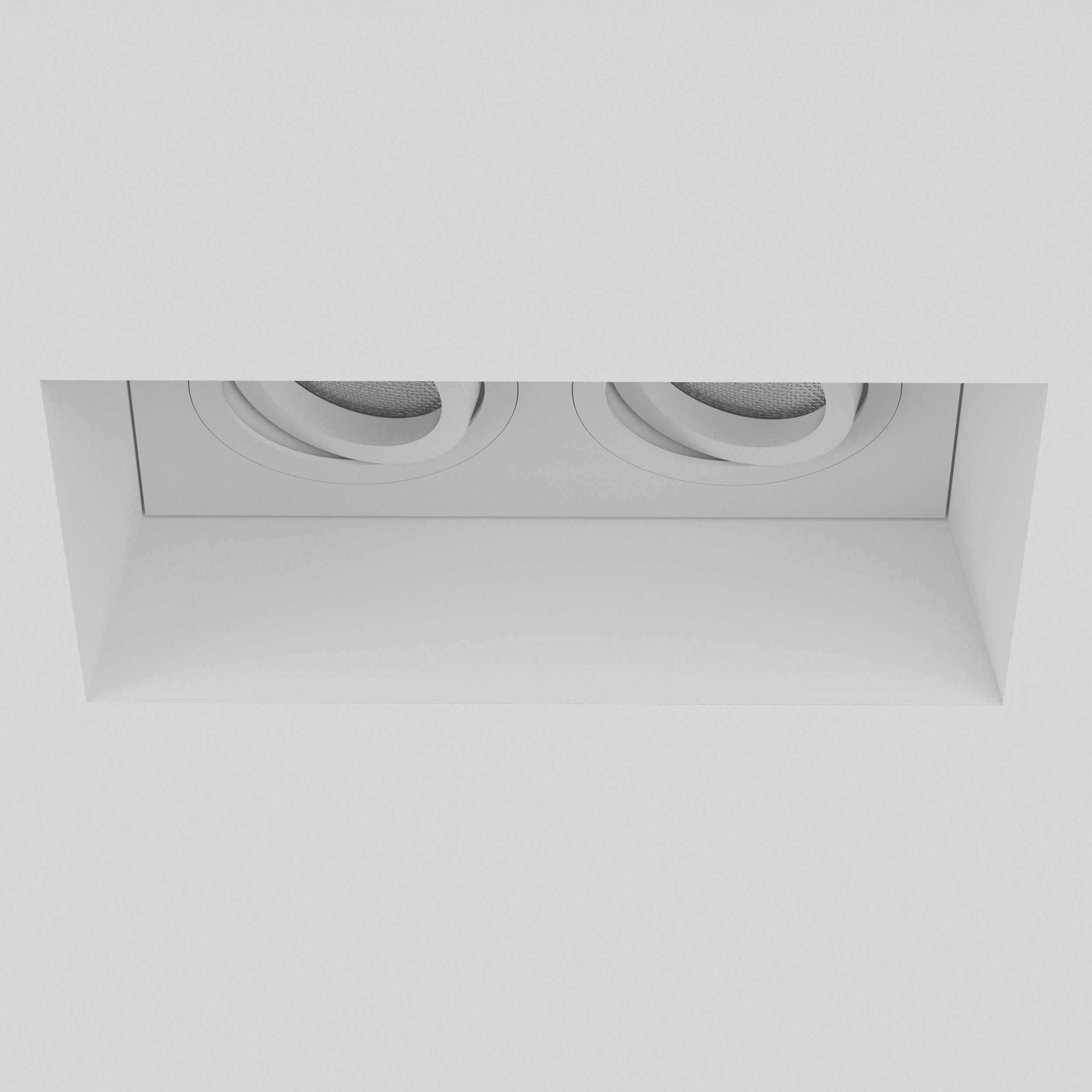 Встраиваемый светильник Astro Blanco 1253006 (7344), 2xGU10x50W, белый, под покраску, гипс, металл - фото 4