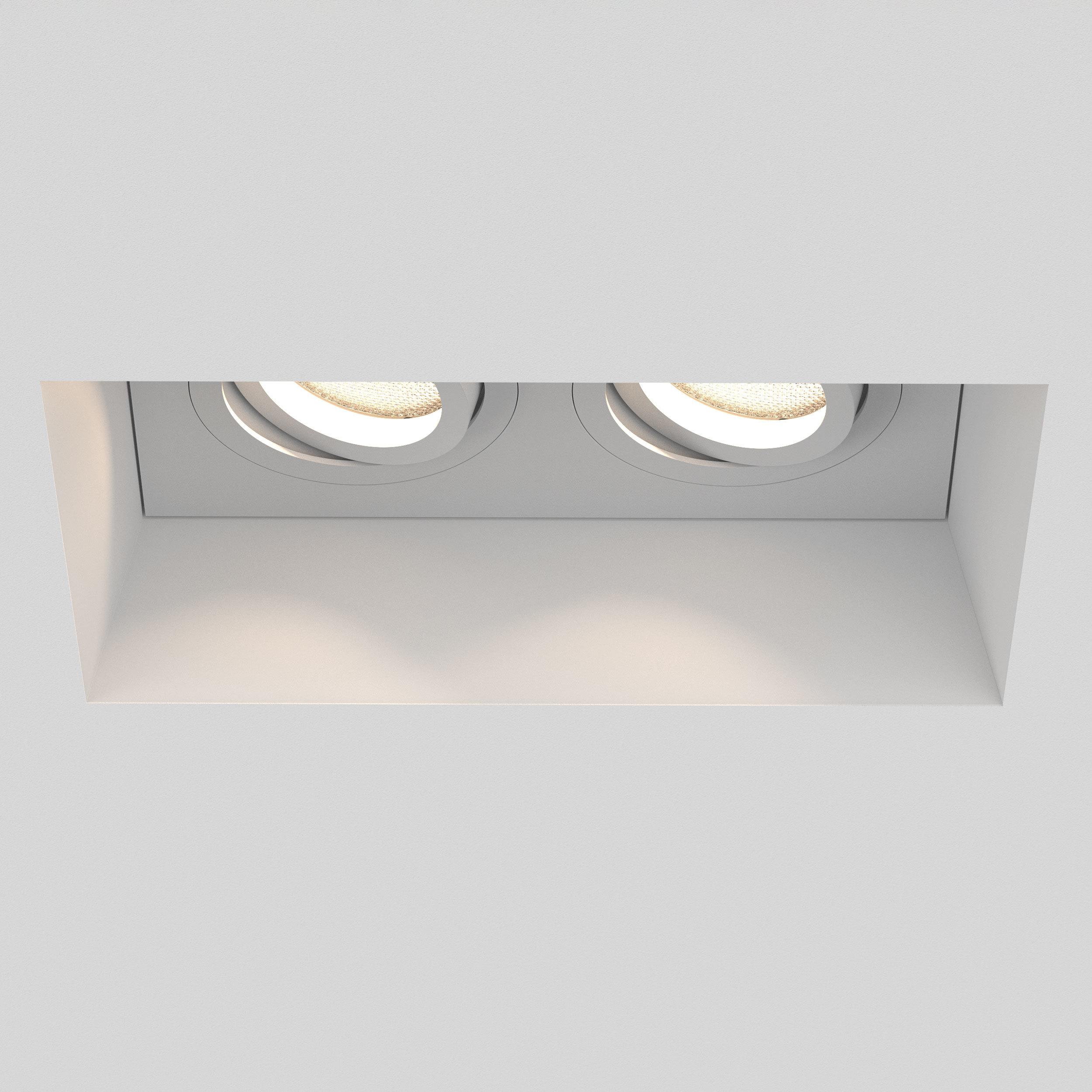 Встраиваемый светильник Astro Blanco 1253006 (7344), 2xGU10x50W, белый, под покраску, гипс, металл - фото 5