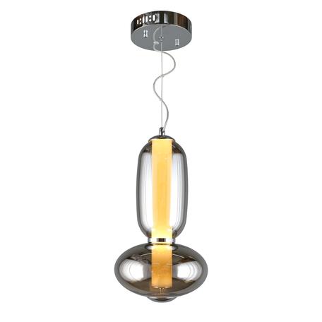 Светодиодный светильник Aployt Weronka APL.011.06.20, LED 20W 3000K 1000lm, хром, дымчатый, металл, стекло