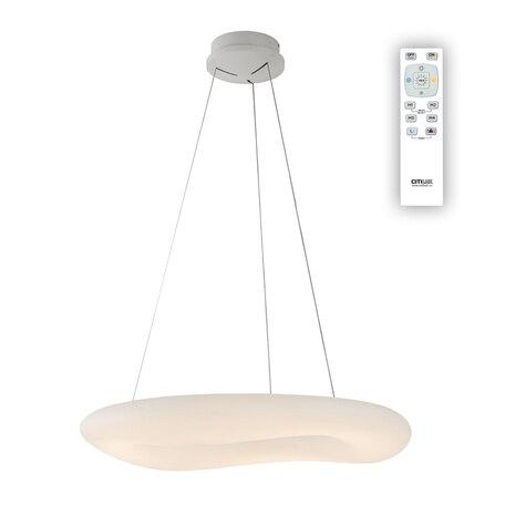 Подвесной светодиодный светильник с пультом ДУ Citilux Стратус CL732800RS, LED 120W 3000-4000K 8700lm, белый, металл, пластик