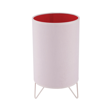 Настольная лампа TK Lighting 2914 Relax Junior розовый 1, 1xE27x60W, белый, розовый, металл, текстиль