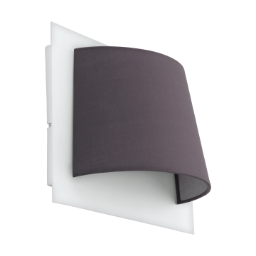 Светодиодное бра Eglo Serravalle 97624, LED 5,4W 3000K 410lm, белый, серый, металл, текстиль