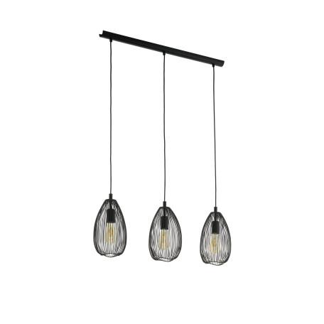 Подвесной светильник Eglo Trend & Vintage Loft Clevedon 49142, 3xE27x60W, черный, металл