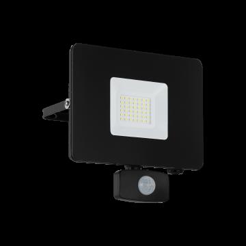 Светодиодный прожектор Eglo Faedo 3 97462, IP44, LED 30W, черный, металл, стекло