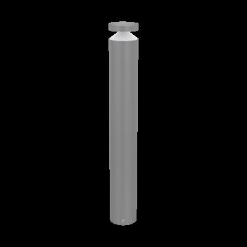 Садово-парковый светодиодный светильник Eglo Melzo 97302, IP44, LED 11W 3000K 950lm, серебро, прозрачный, металл, пластик