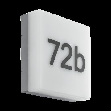 Светодиодный светильник-указатель Eglo Cornale 97289, IP44, белый, серый, пластик