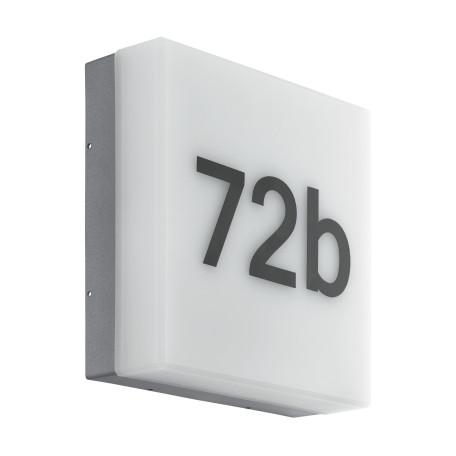 Светодиодный светильник-указатель Eglo Cornale 97289, IP44, LED 8,2W 3000K 820lm, серый, пластик