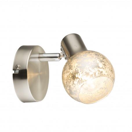 Настенный светильник с регулировкой направления света Globo Zacate 54840-1, 1xE14x25W, металл, стекло
