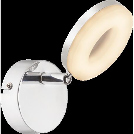Настенный светодиодный светильник с регулировкой направления света Globo Penelope 56121-1, LED 4W 3000K 240lm, металл, металл с пластиком