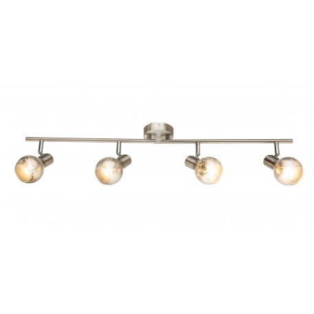 Потолочный светильник с регулировкой направления света Globo Zacate 54840-4, 4xE14x25W, металл, стекло