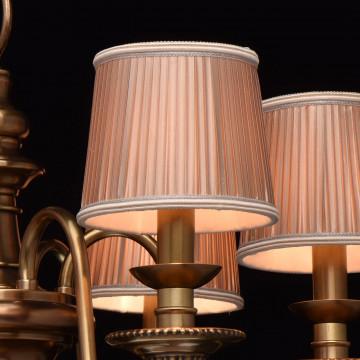 Подвесная люстра Chiaro Паула 411010806, 6xE14x60W, латунь, бежевый, металл, текстиль - миниатюра 9