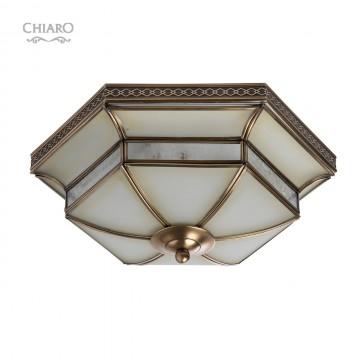 Потолочный светильник Chiaro Маркиз 397010103, 3xE27x60W, бронза, металл, металл со стеклом