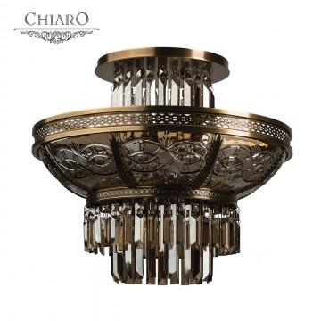 Потолочная люстра Chiaro Диана 340011308, 8xE14x60W, бронза, янтарь, металл, стекло, хрусталь