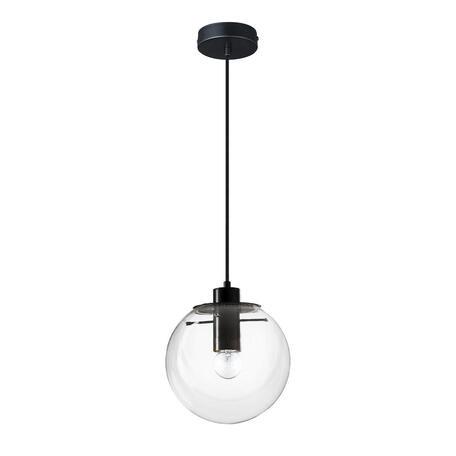 Подвесной светильник Loft It Selene 2031-A, 1xE27x60W, черный, прозрачный, металл, стекло