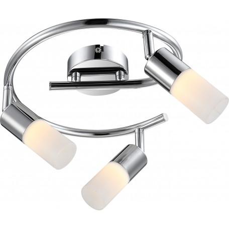 Потолочная светодиодная люстра с регулировкой направления света Globo Spina 56216-3, металл, пластик