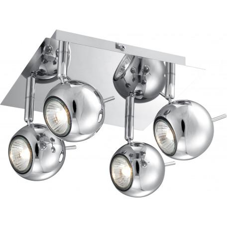 Потолочная люстра с регулировкой направления света Globo Oberon 57881-4L, 4xGU10x3W, металл