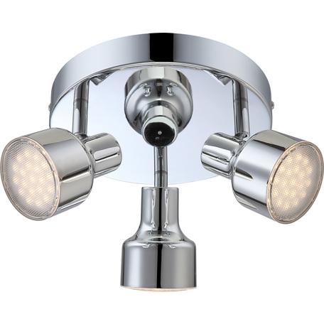Потолочная светодиодная люстра с регулировкой направления света Globo Rois 56213-3, LED 12W 3000K, металл