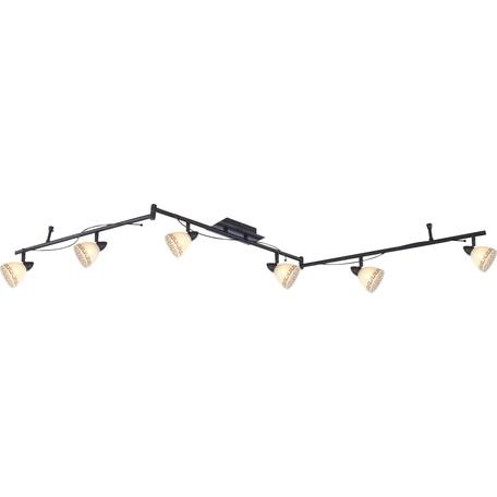 Потолочный светильник с регулировкой направления света Globo Roma 5684-6, 6xG9x33W, металл, стекло
