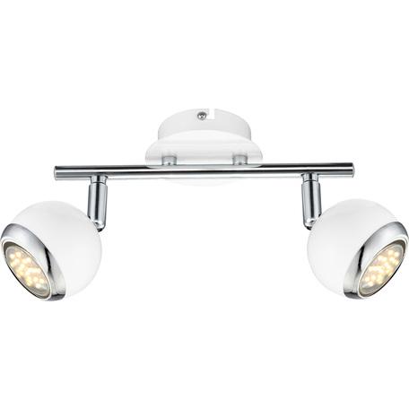 Потолочный светильник с регулировкой направления света Globo Oman 57882-2, 2xGU10x2,5W, металл