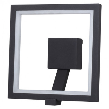 Настенный светодиодный светильник Novotech Street Roca 357445, IP65, LED 10W 3000K 600lm, темно-серый, металл, пластик