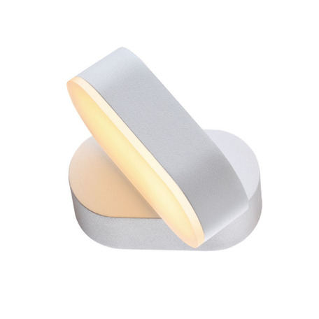 Настенный светодиодный светильник с регулировкой направления света Novotech Kaimas 357431, IP54, LED 6W 3000K 450lm, белый, металл, стекло