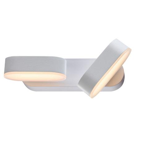 Настенный светодиодный светильник с регулировкой направления света Novotech Street Kaimas 357432, IP54, LED 12W 3000K 840lm, белый, металл, стекло
